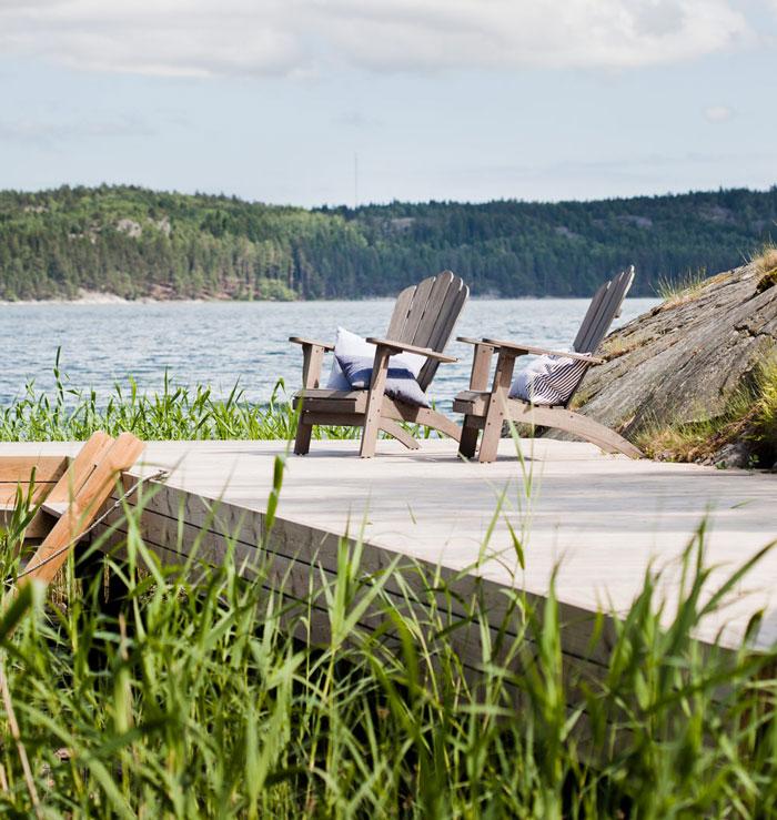 Casa de Verano en Suecia sillas exterior