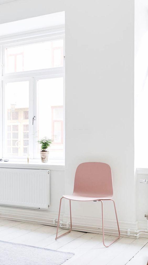Estilo nórdico y color rosa en piezas de diseño