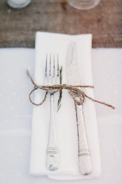 Comida al aire libre - tablesetting