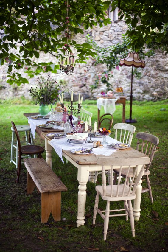 comida al aire libre - mix de sillas