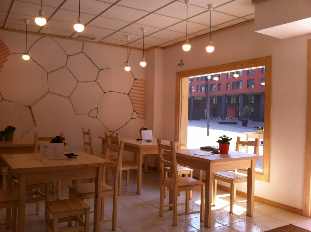 Restaurante Kokken Bilbao interior de estilo nórdico