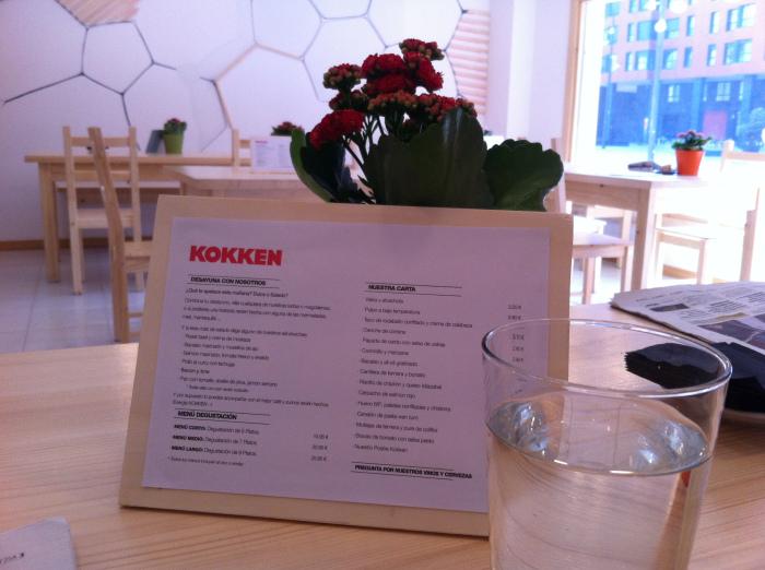 Restaurante Kokken Bilbao - carta