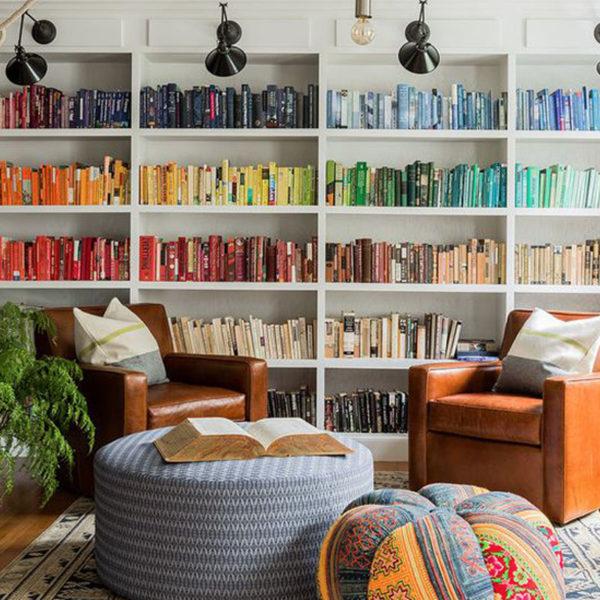 Soluciones para organizar libros por color