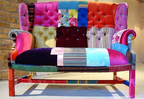 Renovar un sofá anticuado - tapizar