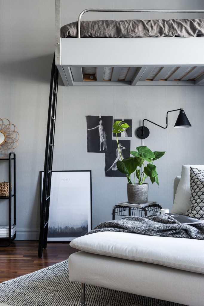 Detalles de estilo nórdico dormitorio