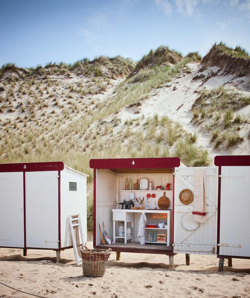 Glamping en la playa - cocinas