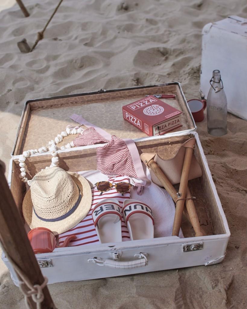 Glamping en la playa - maleta