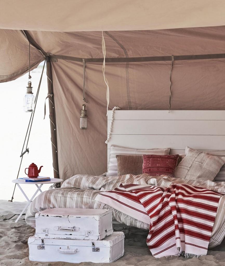 Glamping en la playa - cama