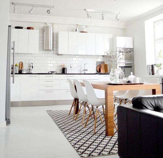 Cocinas integradas de estilo nórdico