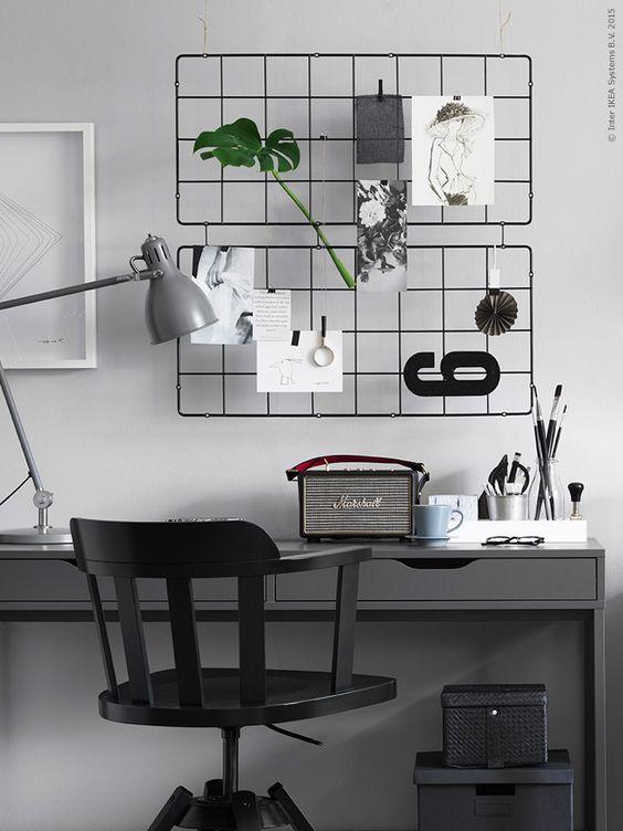 Decorar un espacio de trabajo en tonos grises