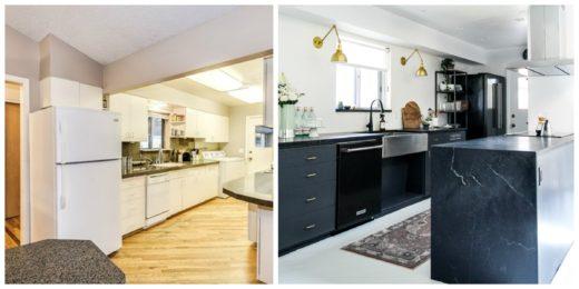 antes y después de una cocina electrodomésticos