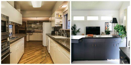 Antes y después de una cocina encimera