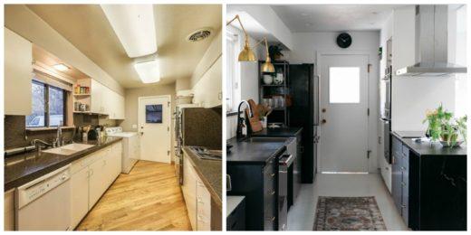 Antes y después de una cocina pintura