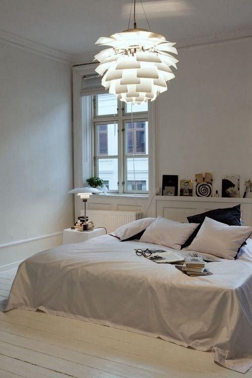 Lámparas de diseño artichoke lamp en el dormitorio