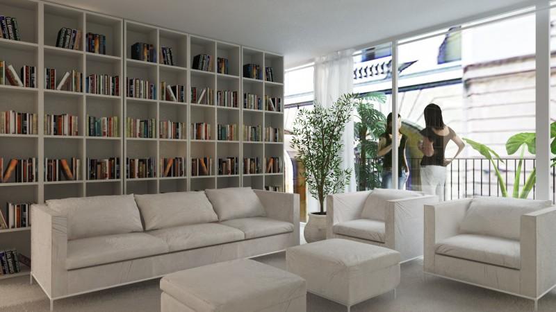 decorar una casa nueva y low cost librería