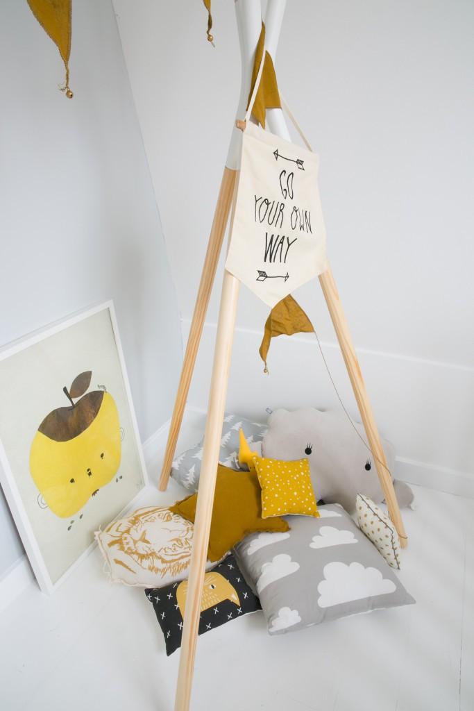 Inspiración para decorar tipi infantil