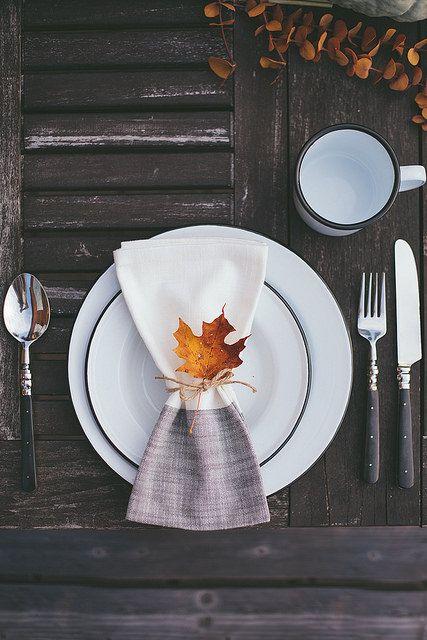 Tablesetting de mesas de otoño