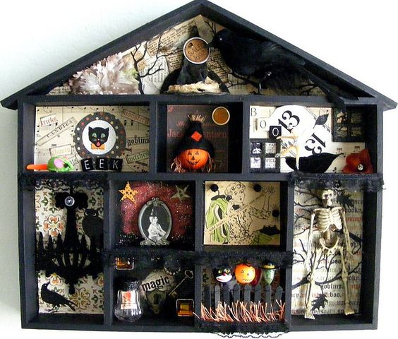 Ideas sencillas para Halloween casita