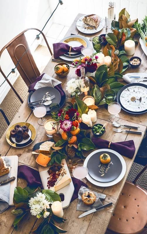 Mesas de Otoño en color bodacious