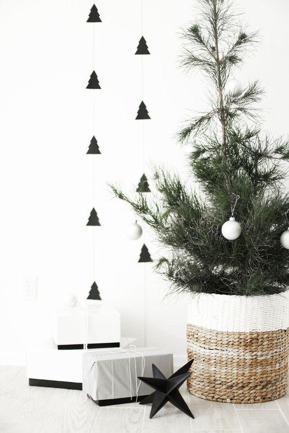 Decoración navideña de estilo nórdico guirnalda