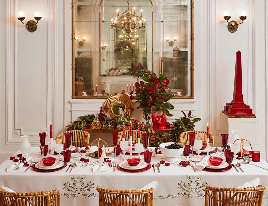 Mesas de Navidad 2017 Vivrant Red