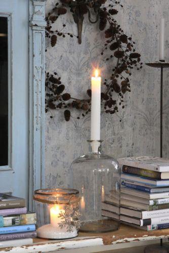 decoracion navideña velas