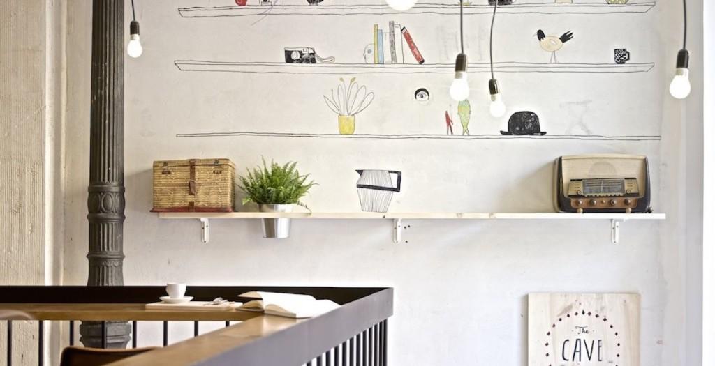 Hostel de estilo nórdico paredes