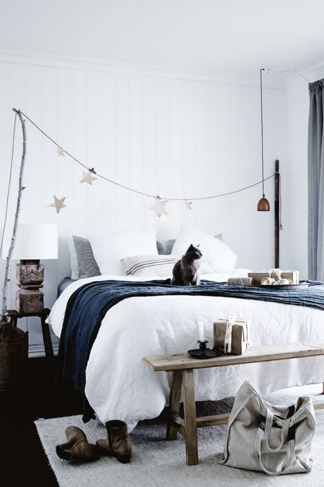 Cozy Christmas dormitorio
