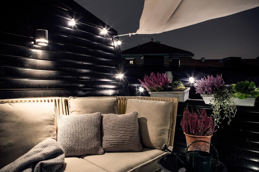 Estilo nórdico en el dormitorio - estilo nórdico en la terraza
