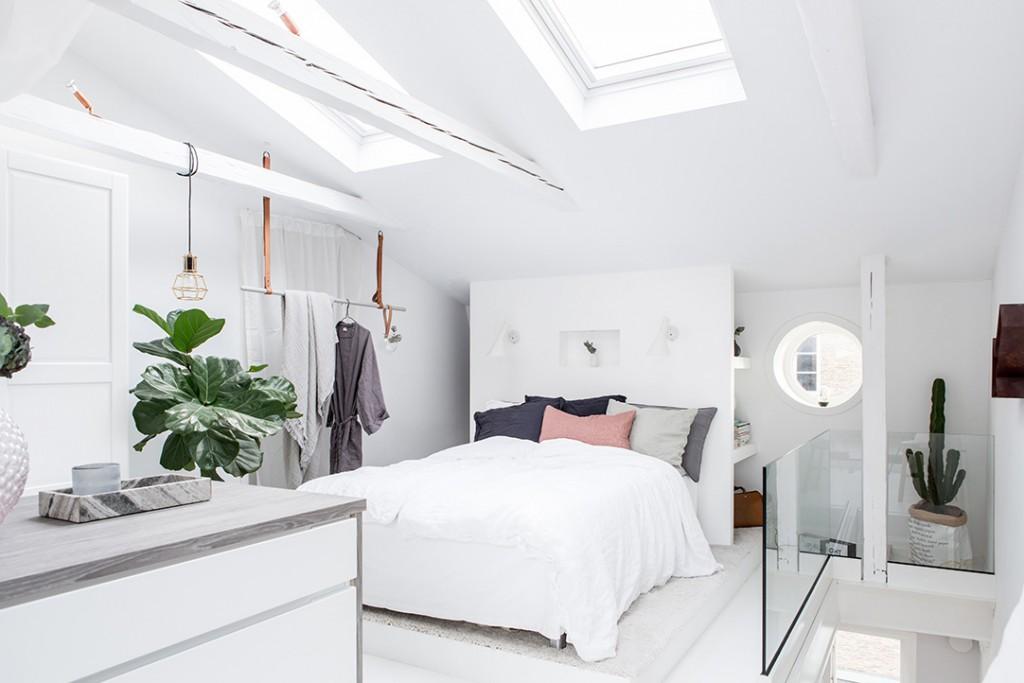 Estilo nórdico en el dormitorio luz natural
