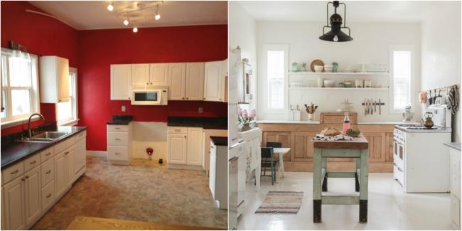 Casa de cuento - Antes y después cocina