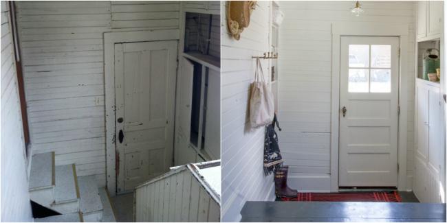 Casa de cuento - antes y después vestíbulo