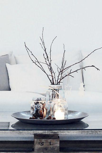 Decoración navideña de estilo nórdico centro de mesa