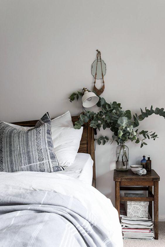 Plantas para decoración nórdica dormitorio