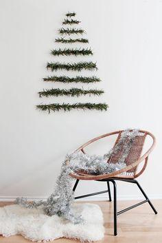 decoración navideña arbol minimalista