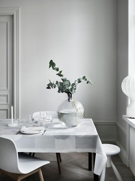 Plantas para decoración nórdica comedor