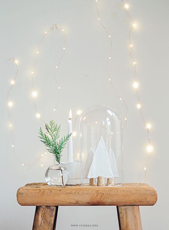 decoración navideña de estilo nórdico detalles