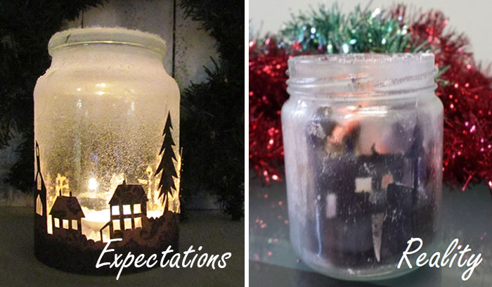 Christmas Fail Candle Jar