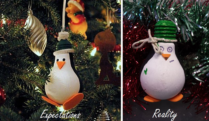 Christmas Fail Decoración pingüino