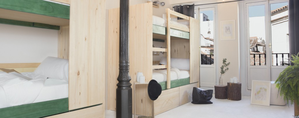 Hostel de estilo nórdico habitación grupos