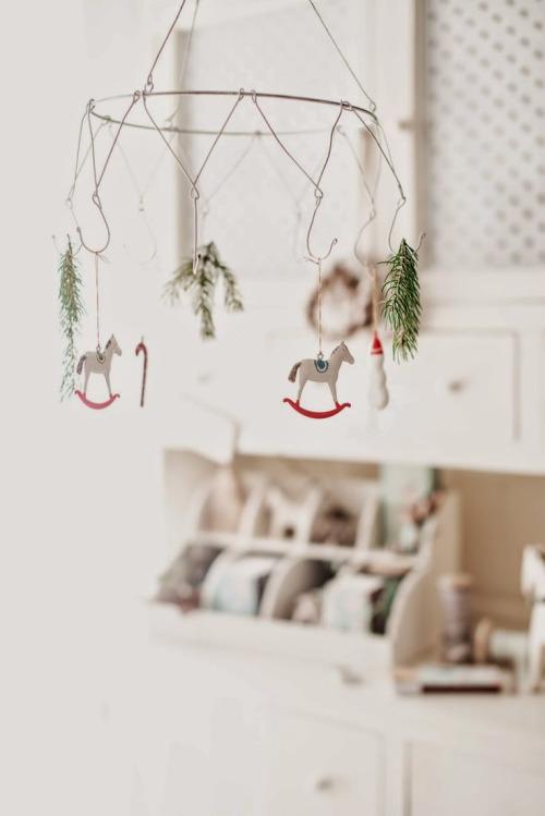 decoración navideña de estilo nórdico detalle colgante