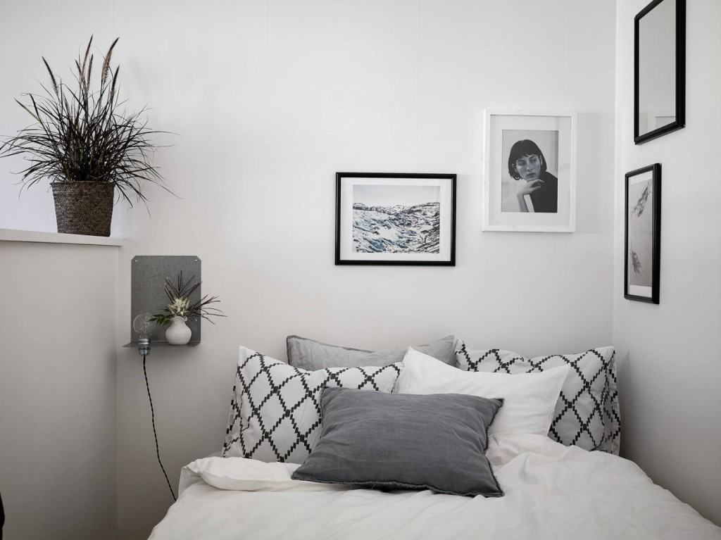 Decorar en gris dormitorio