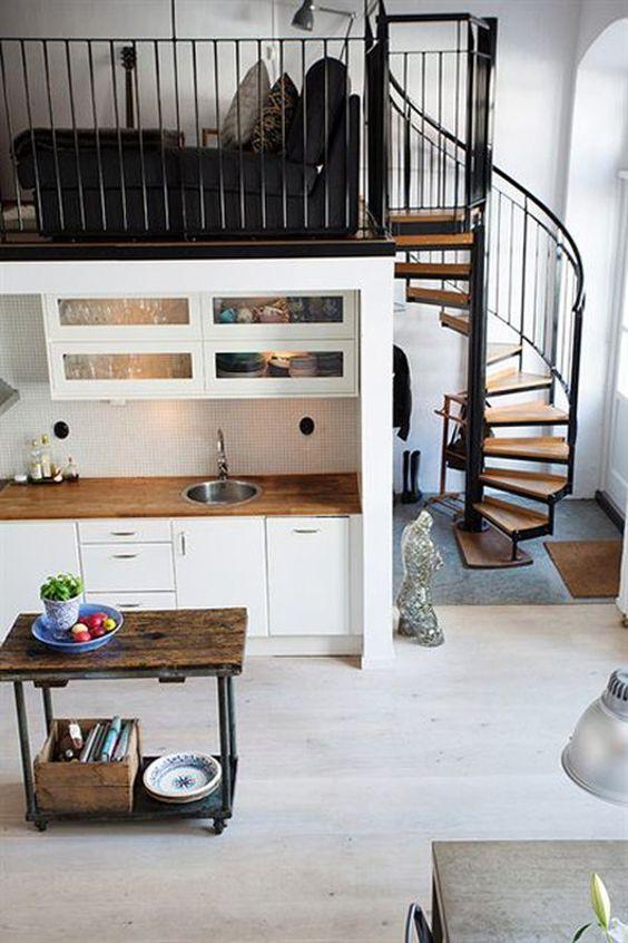 Dúplex Nórdicos con escaleras de caracol