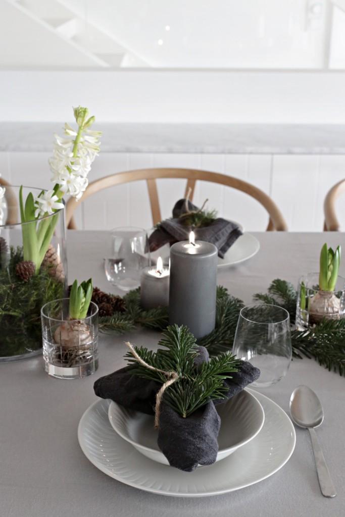Estilo nórdico en la mesa de Navidad 3