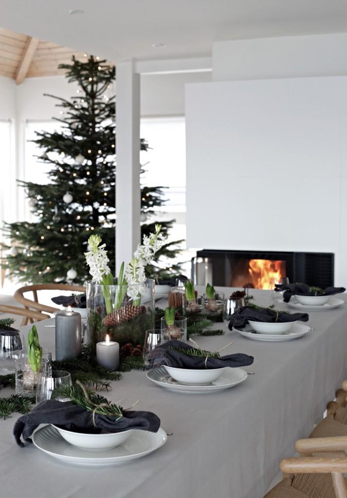 Estilo nórdico en la mesa de navidad