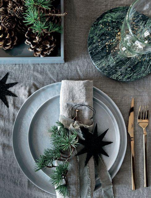 El perfecto anfitrión en Navidad tablesetting 1