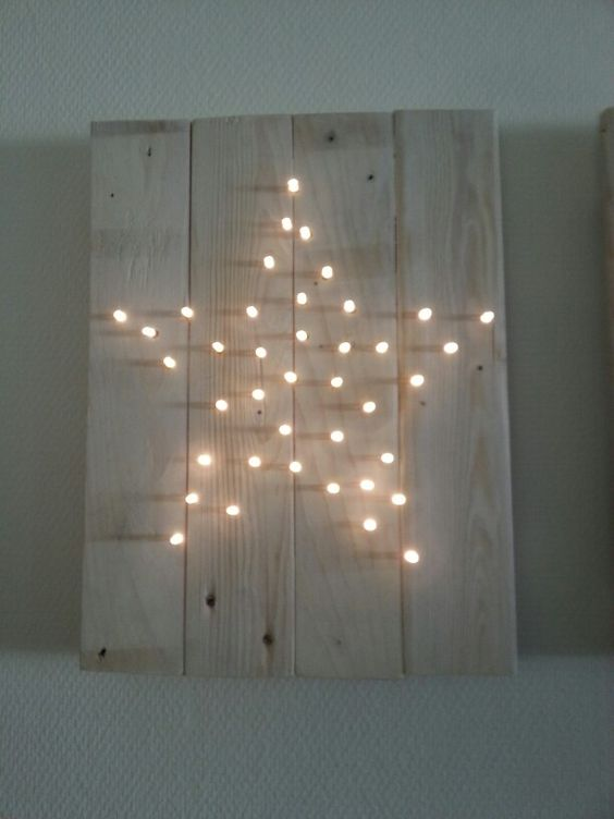 Decoración navideña estrella de luz