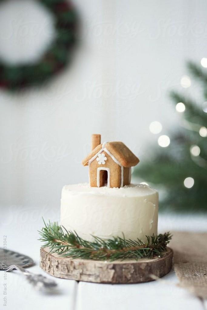Detalles navideños tarta de casita de gengibre