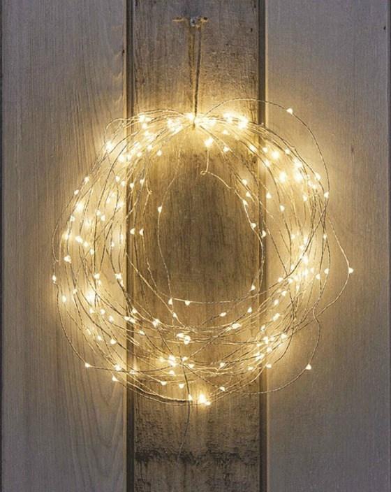 Decoración navideña corona de navidad de luces de led