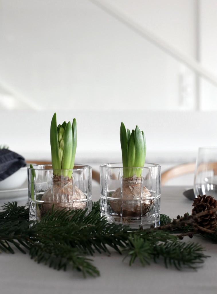 Estilo Nórdico en la Mesa de Navidad o Nochebuena